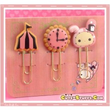 Kawaii RARE Sentimental Circus Shappo Clip Set Pink