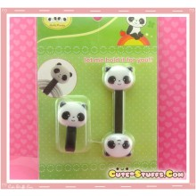 Kawaii Rare 2 PC Cord Holder Good Friends! Panda