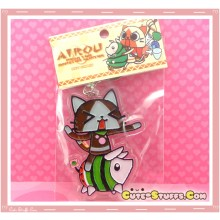Kawaii Rare Monster Hunter Enamel Keychain - Watermelon Poogie & Airou (Felyne)