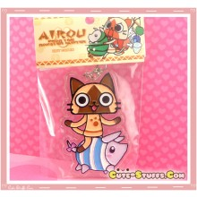 Kawaii Rare Monster Hunter Enamel Keychain - Striped Poogie & Airou (Felyne)