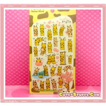 Kawaii Unique Epoxy Glossy Giraffe Sticker Set! Rare!