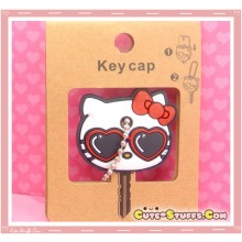 Kawaii Hello Kitty Red Sunglasses Key Cover