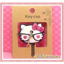 Kawaii Hello Kitty Nerd Glasses Key Cover