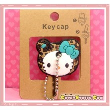 Kawaii Hello Kitty Leopard Print Key Cover