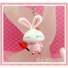 Kawaii Large Love Rabbit Key chain or Backpack Charm!