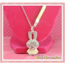 Kawaii Long Miffy Bunny Necklace - White!