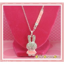 Kawaii Long Miffy Bunny Necklace - Pink!