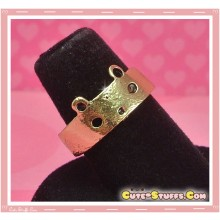 Cute Kawaii Large Bear Adjustable Ring! - Bronze