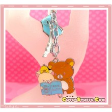 Kawaii Large Rilakkuma Paris Enamel & Metal Keychain!