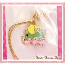 Kawaii RARE Colorful Gold Elephant Dust Plug! Discontinued!