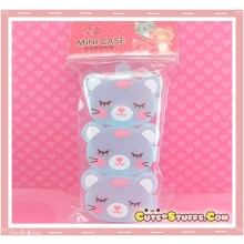 Kawaii 3PC Stackable Good Friends Pill or Trinket Box - Blue!