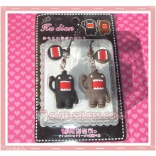 Kawaii Rare Domo Kun Phone Strap Set! Tall
