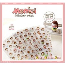 Kawaii 6 Sheet Diary & Planner Transparent Deco Momoi Sticker Set! Ver 2