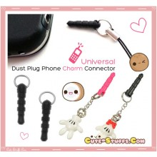Universal 3.5mm Phone Connector Dust Plug Attachment