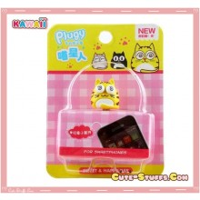 Kawaii Crazy Eyes Cat Plug! Yellow!