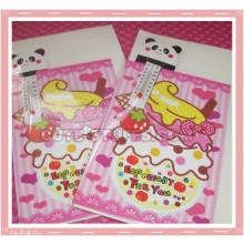 Kawaii Hapy Day Folding Card w/ Panda Thermometer