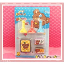 Kawaii Stamp Set! Multi Color Bear