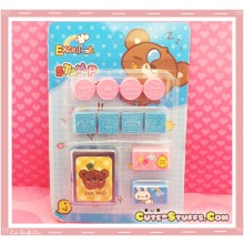 Kawaii Stamp Set! Pink & Blue Bear