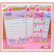Kawaii Mini Expression Sticker Set - U Choose!