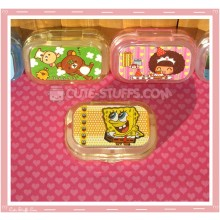 Kawaii Sparkle Travel Lens Case or Trinket Box! - Spongebob Big Eyes