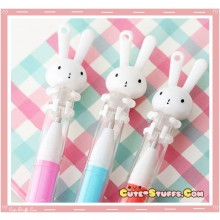 Kawaii Rare Miffy Rabbit Hug Pen w/ Chain Loop! U Choose!