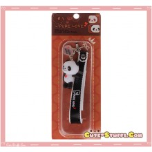 Kawaii Rare Flashing Panda Phone Charm w/ Wrist Strap! Black!