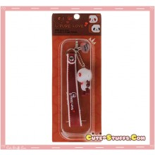 Kawaii Rare Flashing Panda Phone Charm w/ Wrist Strap! Red!