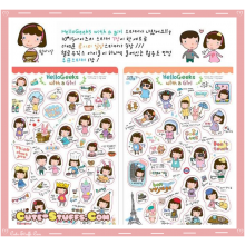Kawaii Hello Geeks 6 Sheet Diary & Planner Transparent Stickers!