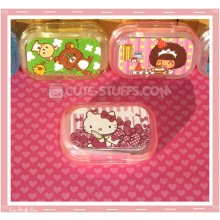 Kawaii Sparkle Travel Lens Case or Trinket Box! - Hello Kitty Letter