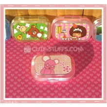 Kawaii Sparkle Travel Lens Case or Trinket Box! - Momo Bear