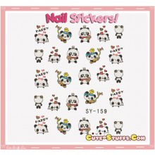 Rare Kawaii Nail Stickers! Happy Panda!
