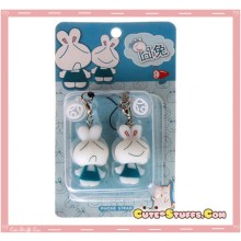 Kawaii Rare Bobble Bunnies Phone Strap Set!