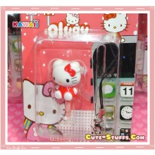 Kawaii Rare Flashing Red Hello Kitty Dust Plug Phone Strap Charm