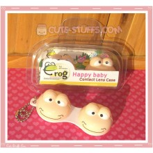 Kawaii Animal Series 1 Capsule Contact Lense Case! - Beige Frog