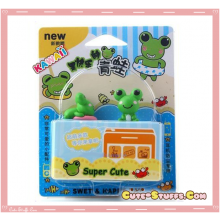 Kawaii Rare 2PC Frog Dust Plug Set!