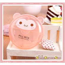 Kawaii Pill or Trinket Box - Clear Monkey!