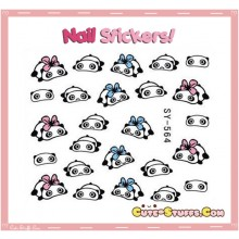 Rare Kawaii Nail Stickers! TarePanda With Bow!