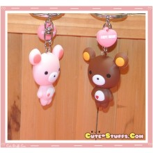 Kawaii Faye Bear Keychain - U Choose Color!