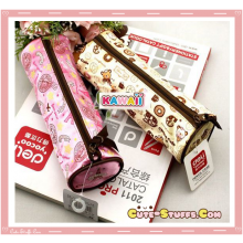 Kawaii Colorful Pencil Case - Pink or Brown Sweets - U Choose Color!
