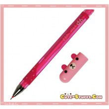 Kawaii Colorful Translucent Pill Bear Pen! Pink!