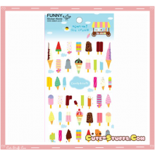 Kawaii Transparent Sweet Ice Cream Epoxy Glossy Stickers!