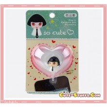 Kawaii Rare Goth Girl w/ Tie Bobble Resin Dust Plug!