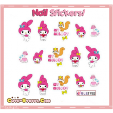Rare Kawaii Nail Stickers! My Melody!