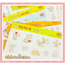 Kawaii Toto 6 Sheet Diary & Planner Transparent Stickers! V2