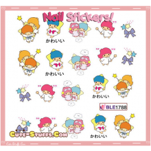 Rare Kawaii Nail Stickers! Little Twin Stars!