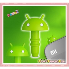 Rare Kawaii Licensed Android Head 3.5mm Dust Plug!