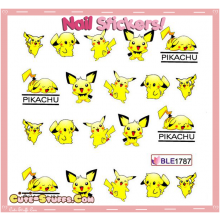 Rare Kawaii Nail Stickers! Pokemon Pikachu & Pichu!