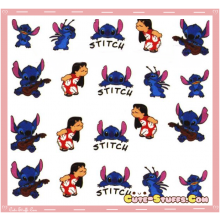 Rare Kawaii Nail Stickers! Stitch!