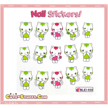 Rare Kawaii Nail Stickers! Cute Cat!