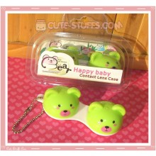 Kawaii Animal Series 1 Capsule Contact Lense Case! - Green Bear